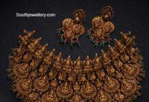 lakshmi nakshi choker and earrings