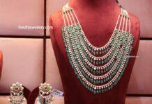 layered polki emerald haram