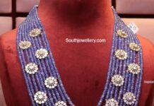multi strand sapphire beads mala