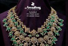 polki emerald bridal necklace