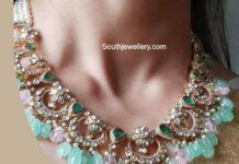 polki necklace akoya